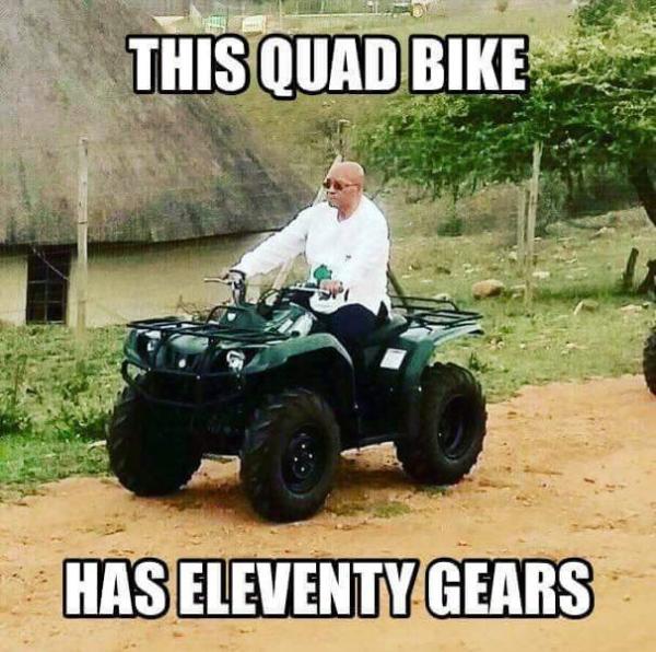 Jacob Zuma Quad Bike